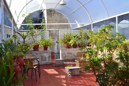 Cazare Peru: Terasa hotel Casa Blanca Arequipa