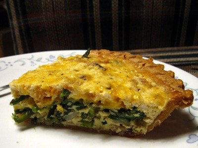 Duck Egg, Asparagus, and Shiitake Quiche