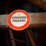 verboden toegang in Zaandam, Noord Holland, Netherlands