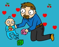 000 - dibujos dia del padre color, jugarycolorear (12)