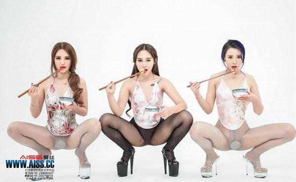 [AISS爱丝]丝袜美腿外拍 4079 美丝年夜大餐 - idols