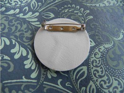Porcelain Brooch back