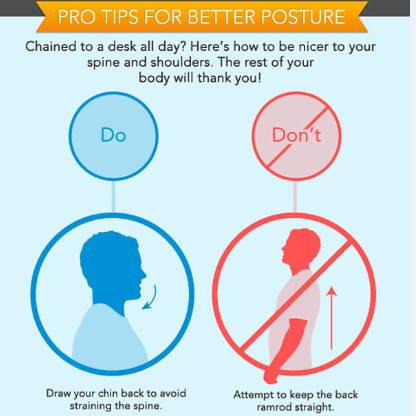 Consejos para buena postura en el trabajo