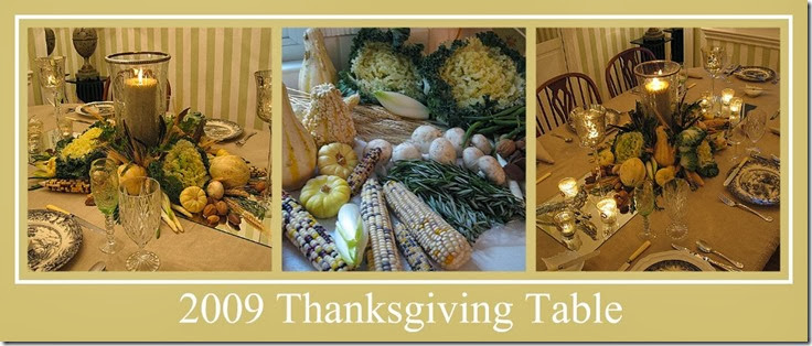 Ribbet collage 2009 Thanksgiving Table