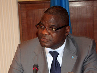 Luzolo Bambi, Ministre congolais de justice, lors de l&#039;atelier entre la  RD Congo et leCongo/Brazzaville  Kinshasa ce 10/03/2011.