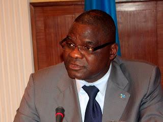 Luzolo Bambi, Ministre congolais de justice, lors de l'atelier entre la  RD Congo et leCongo/Brazzaville à Kinshasa ce 10/03/2011.