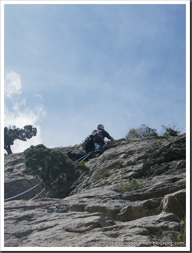 Via Gali-Molero 500m 6b  Ae (V  A1 Oblig) (Roca Regina, Terradets) (Isra) 9882