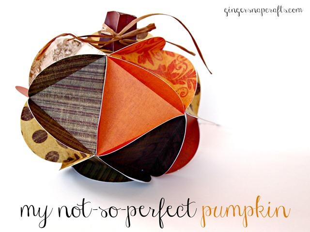 paper pumpkin {Silhouette tutorial}