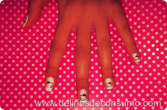 unhas hello kitty 2