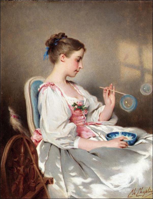 charles-joshua-chaplin-jeune-fille-aux-bulles-milieu-19eme