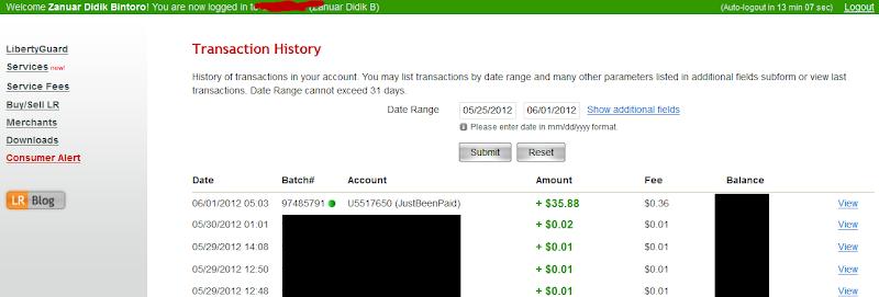 Bukti Pembayaran Justbeenpaid $35,88 (Pembayaran ketiga)