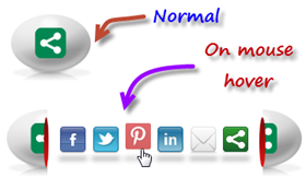 Fantástico Widget Ovo Animado com botões para Redes Sociais