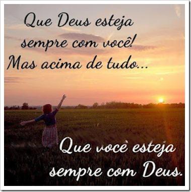 Que vc esteja sempre com Deus