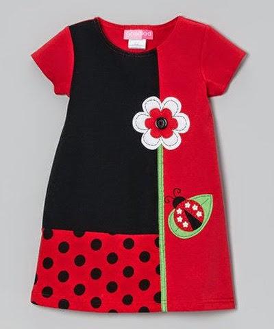 Inspiração: joaninha - vestido infantil