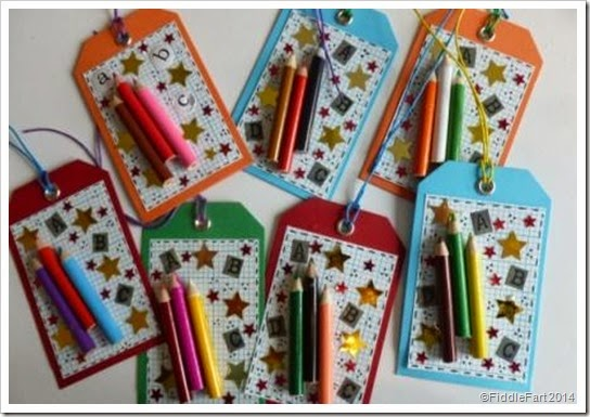 Mini pencil gift tags.