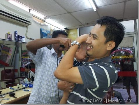 Aksi Harraz Gunting Rambut 8