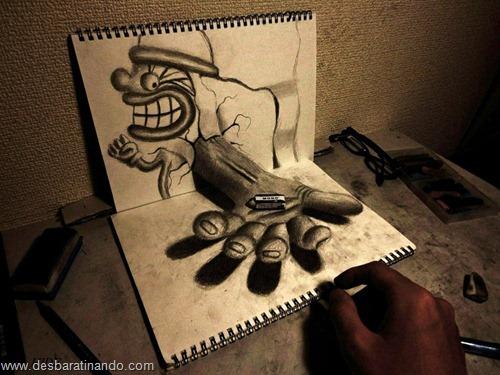 desenhos lapis 3D desbaratinando  (3)