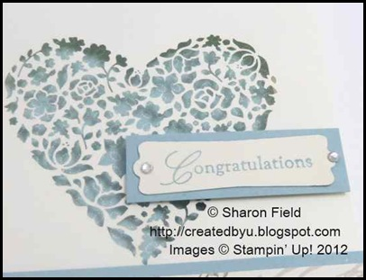 Wedding sweet stamped sentiment punched with modern label punch