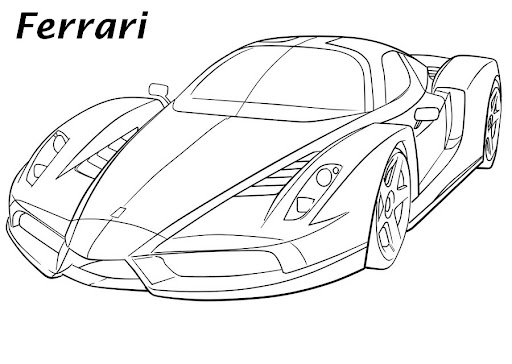 Dibujos Carros Ferrari Para Colorear
