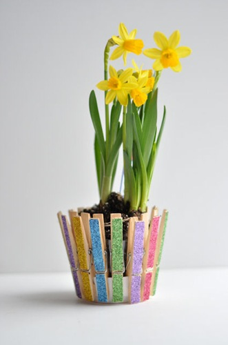 Clothespin Flower Pot Kids Crafts