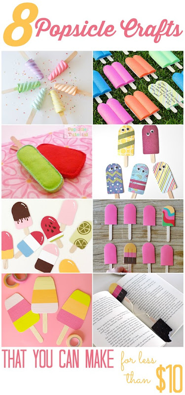 8 Popsicle Crafts (that you can make for less than $10!)