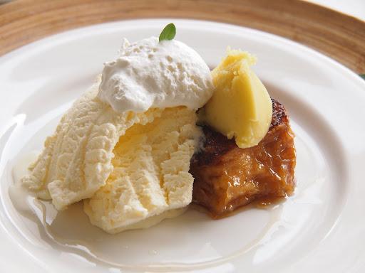 ロンカフェのフレンチトースト(ポテトと栗)