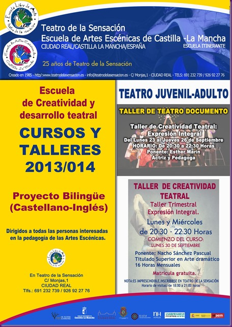 TEATRO DOCUMENTO  Y TEATRO WEB