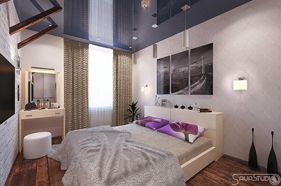 Modernas habitaciones con un toque femenino