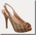 Guess Nude Platform Peeptoe Shoe
