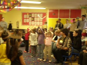 Busy Bees singing at the Holiday Social.