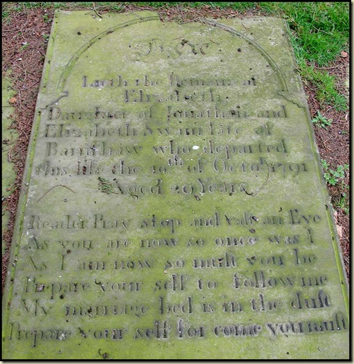 Gravestone in St Lawrence's Churchyard