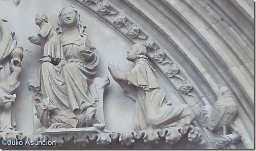 Iglesia de Santa María de Ujué - Virgen y donante