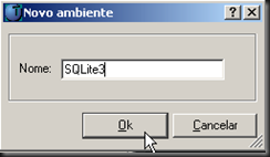 dbAcces : Configurações : ODBC (Generic) : Novo Ambiente