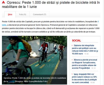 Oprescu_ Peste 1_000 de străzi şi pistele de biciclete intră în reabilitare de la 1 iunie - Mediafax_30_05_2011376