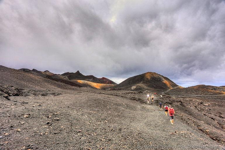 Wanderung auf dem Sierra Negra Vulkan, Insel Isabela, Galapagos