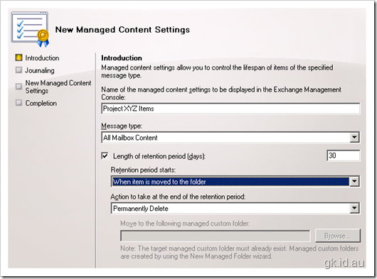 Integrating Exchange 2007 Messaging Records Management with SharePoint Document Libraries – Part 2
