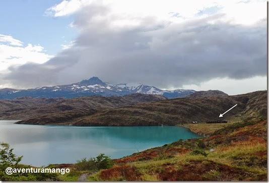 Lago Pehoé e Lodge Paine Grande