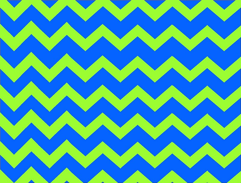 Lime green and blue chevron background for Lime and blue