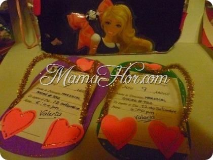 Tarjetas de invitación para niñas: con limpia pipas