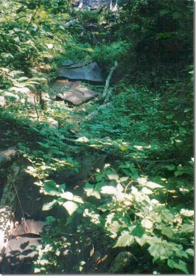 Sheet Metal that may have been a Water Flume along the Iron Goat Trail in 1998