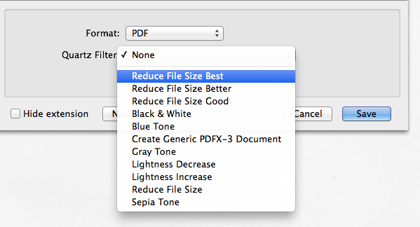 New Reduce File Size Filters