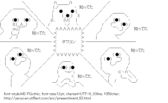 Presentiment,Yaruo,Yaranaio,Dekiruo,Pedobear