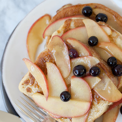 Apple French Toast with Blueberries