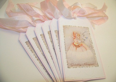 Christmas Tags - Little Girl in Pink
