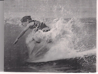 Bruce could surf also and this is how he learned his nose wheelies. He was very little kid but very talented!