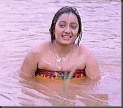 old actress kanaka in swim wear