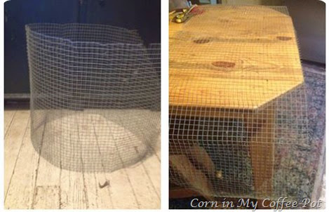 wire mesh baskets- diy