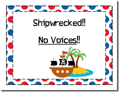 Shipwrecked no voices