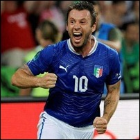 Cassano, camisa 10 da Itália na Eurocopa. (foto: UOL)