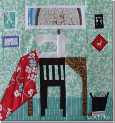 A Quiet Play Sewing Room Paper Pieced of course